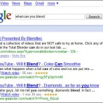 Google Results for Blentec Will It Blend