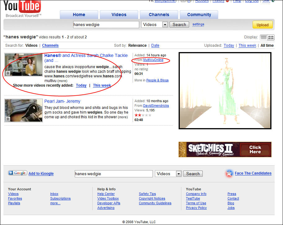 YouTube Search Results for Hanes Wedgie