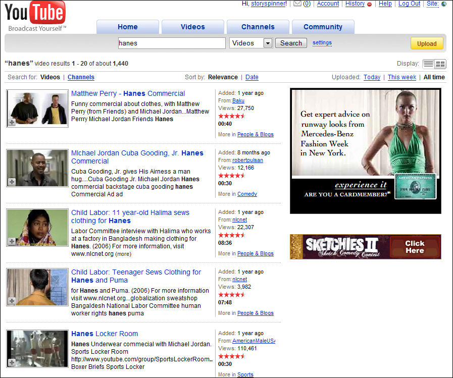 YouTube Search Results for Hanes