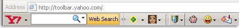 Yahoo search toolbar
