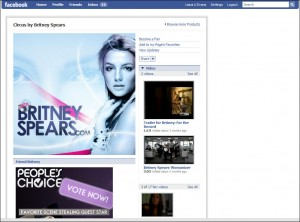 Britney Spears Facebook Page